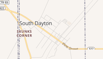 South Dayton, New York map