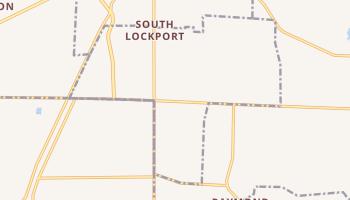 South Lockport, New York map