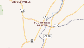 South New Berlin, New York map
