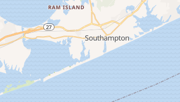 Southampton, New York map