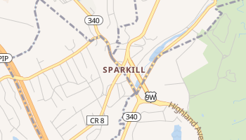 Sparkill, New York map