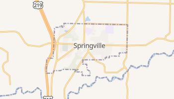 Springville, New York map