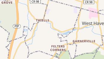 Thiells, New York map