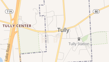 Tully, New York map