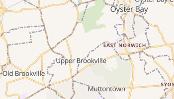 Upper Brookville, New York map