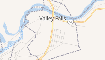 Valley Falls, New York map