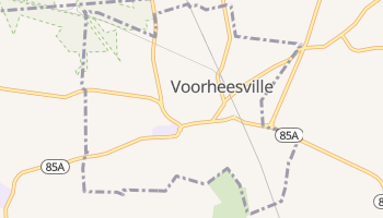 Voorheesville, New York map