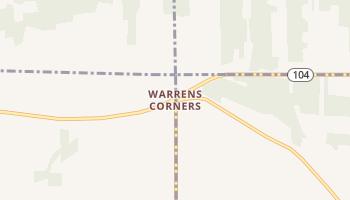 Warrens Corners, New York map