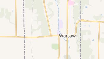 Warsaw, New York map