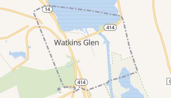 Watkins Glen, New York map