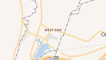 West End, New York map