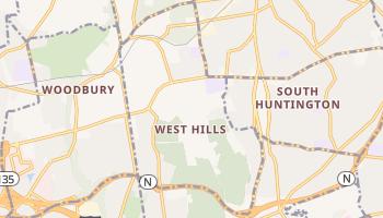 West Hills, New York map