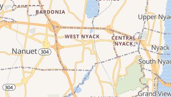 West Nyack, New York map