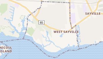 West Sayville, New York map