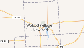 Wolcott, New York map