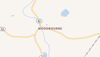 Woodbourne, New York map