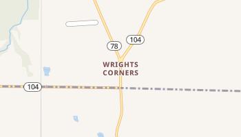 Wrights Corners, New York map