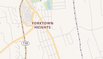 Yorktown Heights, New York map