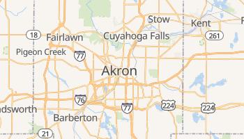 Akron, Ohio map