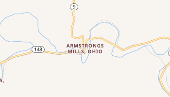 Armstrongs Mills, Ohio map