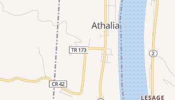 Athalia, Ohio map