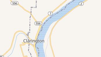 Clarington, Ohio map
