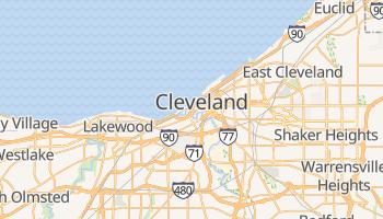 Cleveland, Ohio map
