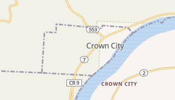 Crown City, Ohio map