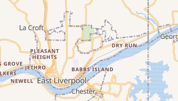 East Liverpool, Ohio map