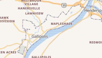 Gallipolis, Ohio map