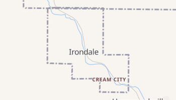 Irondale, Ohio map