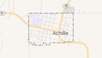 Achille, Oklahoma map