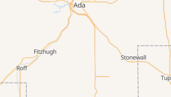 Ada, Oklahoma map