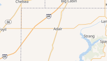 Adair, Oklahoma map