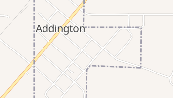 Addington, Oklahoma map