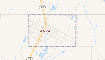 Agra, Oklahoma map