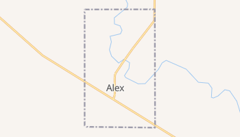 Alex, Oklahoma map