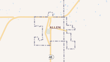 Allen, Oklahoma map