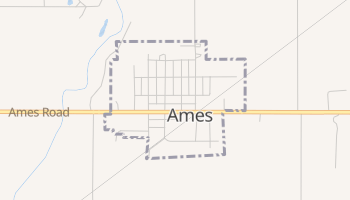 Ames, Oklahoma map
