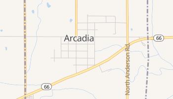 Arcadia, Oklahoma map