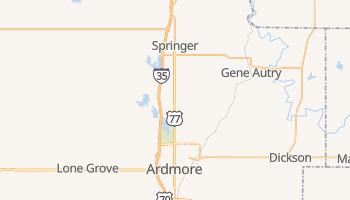 Ardmore, Oklahoma map