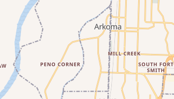 Arkoma, Oklahoma map