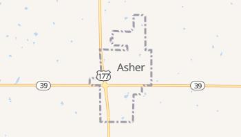 Asher, Oklahoma map
