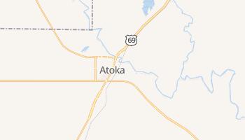 Atoka, Oklahoma map