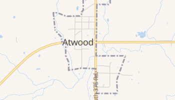 Atwood, Oklahoma map