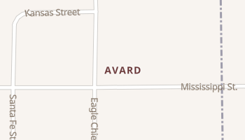 Avard, Oklahoma map