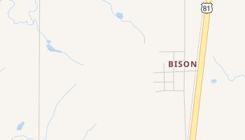 Bison, Oklahoma map