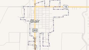 Blair, Oklahoma map