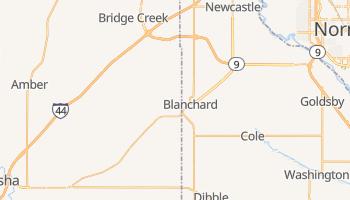 Blanchard, Oklahoma map