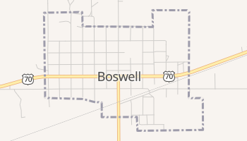 Boswell, Oklahoma map